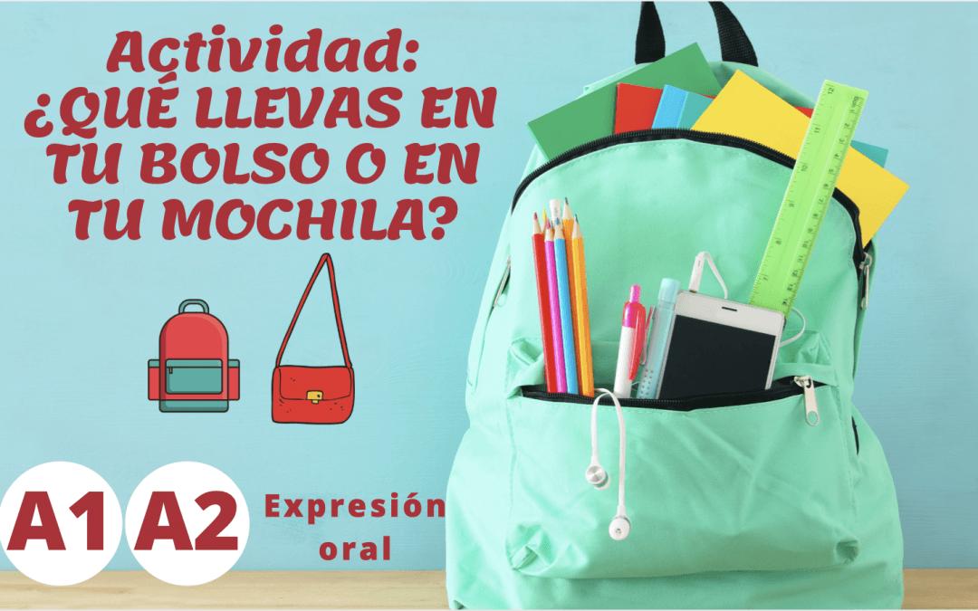 ¿Qué llevas en tu bolso? (A1, A2)