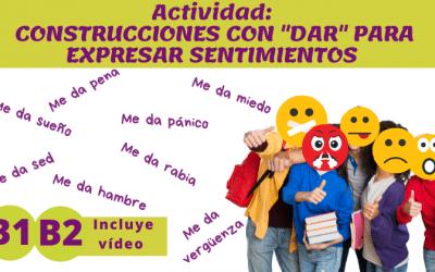 Expresiones con DAR (B1/B2)